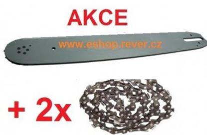 Image de 105cm vodící lišta 3/8 a 2 řetězy kulatý zub Stihl 045 056 AV GRATIS OLEJ pro 5L paliva
