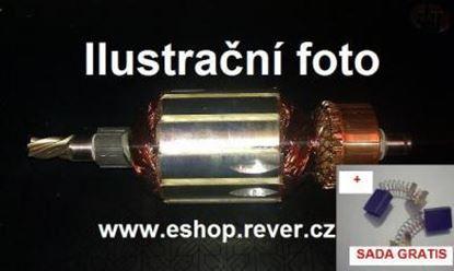 Bild von Anker Rotor Hitachi D 6 SH D6 SH D6SH ersetzt original (ekvivalent) Wartungssatz Reparatursatz Service Kit hohe Qualität Fett und Kohlebürsten GRATIS