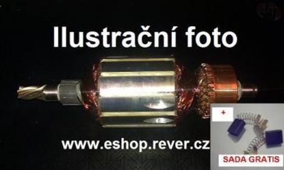 Bild von Anker Rotor Hitachi H 60 H60 MA MB KA ersetzt original (ekvivalent) Wartungssatz Reparatursatz Service Kit hohe Qualität Fett und Kohlebürsten GRATIS