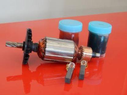 Bild von Anker Rotor Lüfter Hitachi DH24 DH24PA DH24PB DH24PC ersetzt original (ekvivalent) Wartungssatz Reparatursatz Service Kit hohe Qualität Fett und Kohlebürsten GRATIS