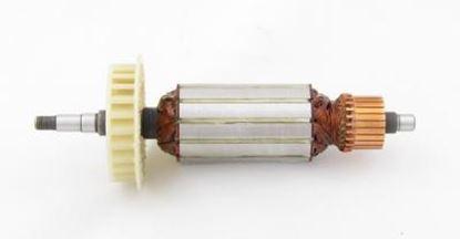 Bild von Anker Rotor Lüfter Hitachi G13SE G12SE 1020W ersetzt original 360-375E (ekvivalent) Wartungssatz Reparatursatz Service Kit hohe Qualität Fett und Kohlebürsten GRATIS