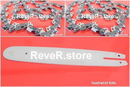 "Image de 33cm lišta sada drive + 2ks řetěz s kulatým zubem 325"" 56TG 1,5mm pro Husqvarna EL16"