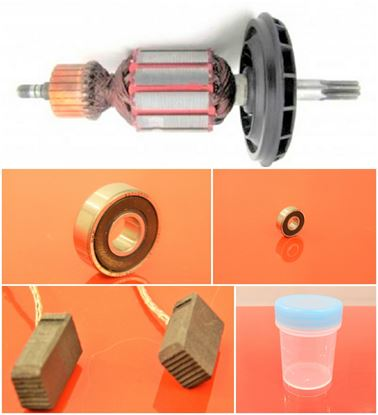 Picture of armature rotor Bosch GBH 5-40 DE DCE 5-40DE 5-40DCE GSH 5-E 5E GBH5-40DE DCE5-40 DE5-40DCE GSH5E replace origin 1614011098 / maintenance repair service kit high quality / carbon brushes and grease FREE
