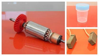 Image de ancre rotor Bosch GWS14-125CIE GWS14-125CI GWS15 remplacer l'origine / kit de service de maintenance de réparation haute qualité / balais de charbon et graisse gratuit