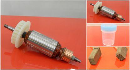 Bild von Anker Rotor Hitachi G 13 YC G13YC ohne Elektronik ersetzt original (ekvivalent) Wartungssatz Reparatursatz Service Kit hohe Qualität Fett und Kohlebürsten GRATIS