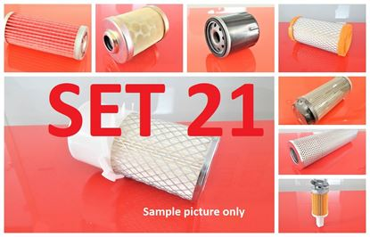Picture of Filter set service for Case CX15B with engine Mitsubishi L3E Set21