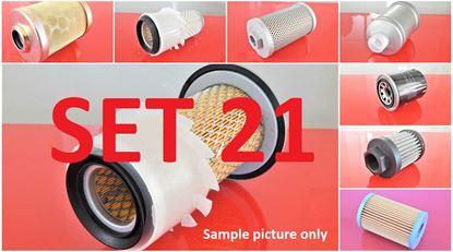 Picture of Filter set service for Kubota KH30 with engine Kubota Z600K2 Set21