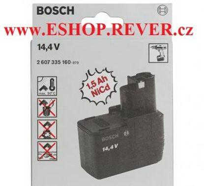 Imagen de akumulátor plochý Bosch 14,4 V 1,5 Ah NiCd original 2607335160