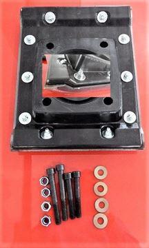 Obrázek patka hutnící pro Ammann vibrační pěch ABS 68 ABS68 ABS68E ABS68-E ABS 68E AVS 68-4 AVS 70-4 T deska nástavec nohy i pro Rammax - náhradní + sada šroubů GRATIS + železné bočnice rám stampferplatte mit Stahlseiten verstärkt rammers jumping jack Rammer Tamper Rammer Jumping