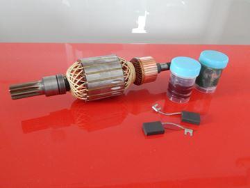 Изображение арматура / ротор для Bosch GSH 27 GSH27 заменяет 1614011091 - угольные щетки и без смазки - ремонтный комплект