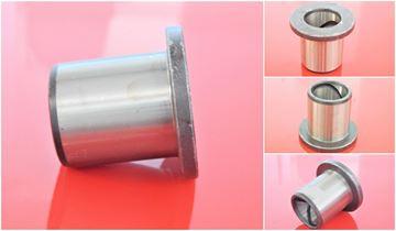 Obrázek 40x53x40 / 70x5 mm ocelové pouzdro s límcem - vnitřní mazací drážka / vnější hladké s límcem - 50HRC