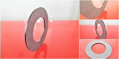 Obrázek 30x60x2 mm vyrovnávací vymezovací podložka distanční kroužek ocelová  30x2 mm