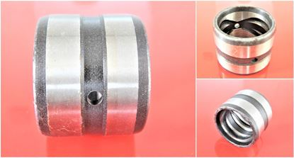 Image de Douille en acier 100x120x90 mm à l'intérieur avec rainure de lubrification / extérieur avec rainure de lubrification / 2x trou de lubrification