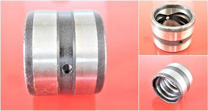 Image de Douille en acier 100x130x80 mm à l'intérieur avec rainure de lubrification / extérieur avec rainure de lubrification / 2x trou de lubrification