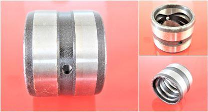 Image de Douille en acier 110x130x130 mm à l'intérieur avec rainure de lubrification / extérieur avec rainure de lubrification / 2x trou de lubrification