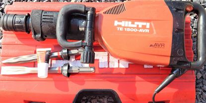 Imagen de Martillo perforador HILTI TE1500AVR Martillo superior de demolición con accesorios Cincel Garantía y factura