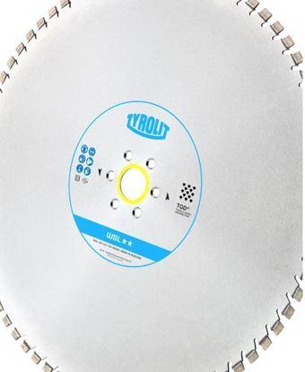 Imagen de Tyrolit 34017401 hoja de sierra 600 x 4,9 x 60 WSL ** Sierras de pared con tecnología TGD®