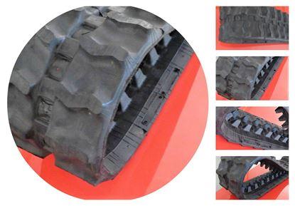 Picture of rubber track for mini excavator dumper construction machine 180x72x37 - 180x37x72 - 180 72 37 - 180 37 72TB108 TB007 TB07