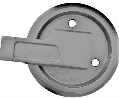 Imagen de Rueda loca tensora idler con soportes - altura total de la rueda 232/270mm para Case CX16B CX18B Kobelco SK013 SK013-1 SK13SR Mini SK015 SK015-1 SK015R
