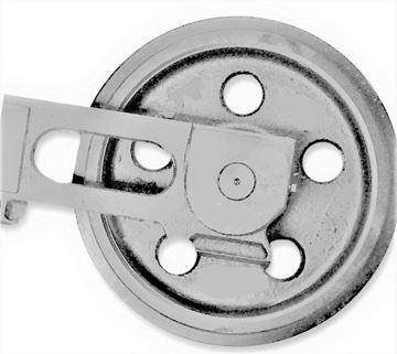 Imagen de Rueda loca tensora idler con soportes - altura total de la rueda 296/332mm para Yanmar B25 B25V B27-2A B30V B37V VIO30 VIO30-1 VIO30-2 VIO30V