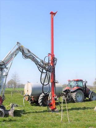 Obrázek Adler ABL vrtací stožár lafeta pro bagry minibagry - na vrtání studny a geotermální vrtání / vysoce kvalitní mechanizace - různé zařízení a typy strojů pro růzmé hloubky a požadavky