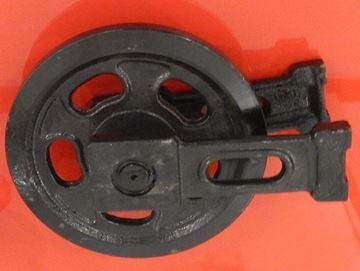 Bild von Idler Leitrad Spannrad inkl. seitlichen Schuhen / Führungen Gesamthöhe Rad 282/282mm fuer Yanmar B12 B17 B14 B15 YB121U YB151U B17-2 B17-2EX