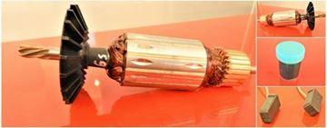 Изображение Анкер Bosch с ротором GBM 16-2 E GBM16-2E GBM162E заменяет оригинальный 1 604 0103 14 / высококачественный ремонтный комплект / угольные щетки и бесплатная смазка